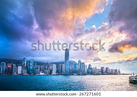 HDR images of Hong Kong City senses - stock photo