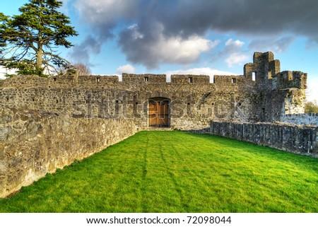 HDR of Adare Castle interiors - Ireland - stock photo