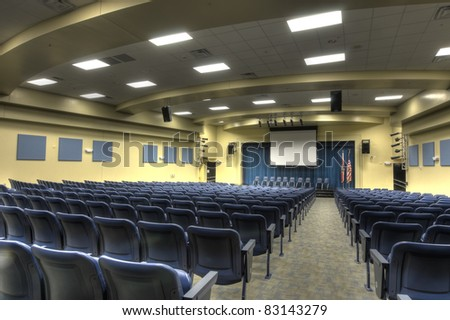 HDR of Auditorium at Middle School.