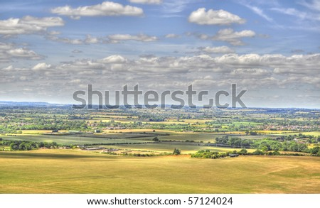 HDR Of Dunstable Downs - stock photo