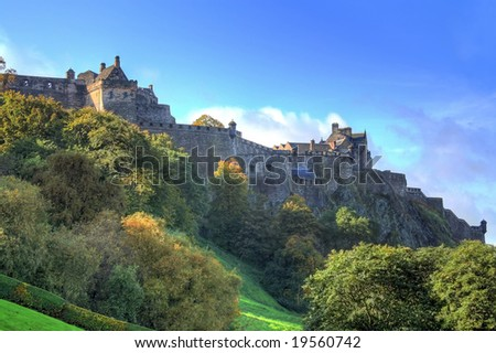 HDR photography of Edinburgh - stock photo