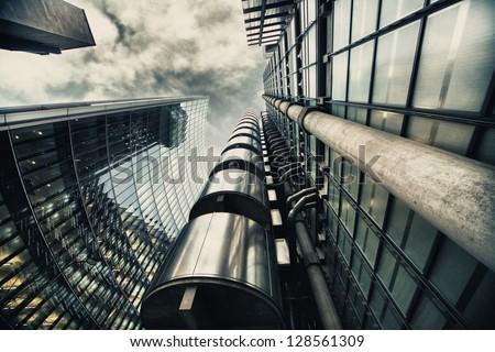 HDR picture of skyscraper in London - stock photo