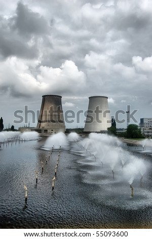HDR.Power plant. Kiev, Ukraine