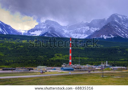 HDR Sour Gas Plant - stock photo