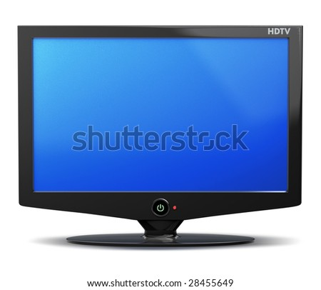 HDTV flat television screen