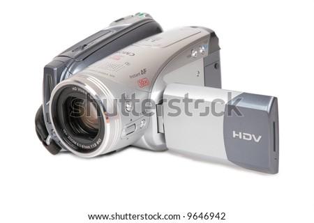 HDV camera - stock photo