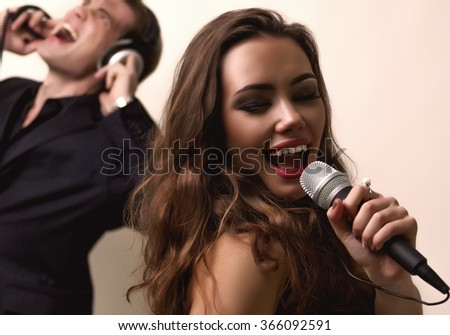 He and She - stock photo
