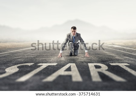 He is determined to start now - stock photo