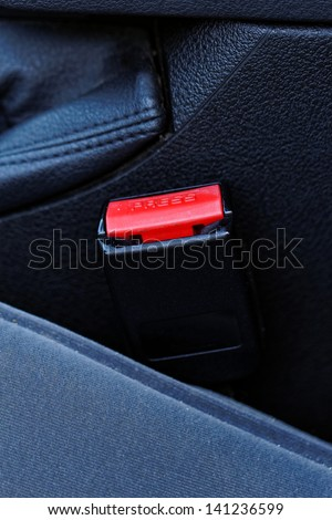 he lock for a seat belt of the modern car - stock photo