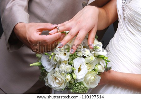 He put wedding ring on her stock photo edit now 110197514 he put the wedding ring on her junglespirit Image collections
