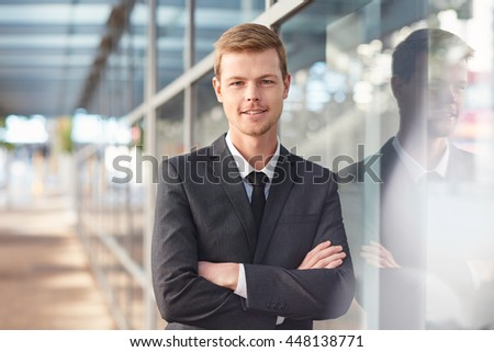 He's got will and attitude to succeed in business - stock photo
