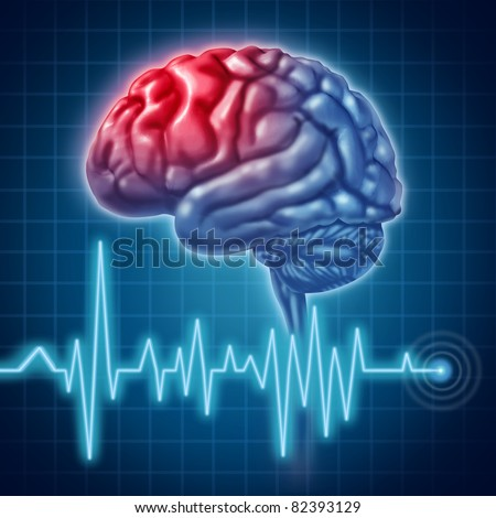 Head ache migrain pain - stock photo