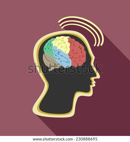 Head and Brain - stock photo