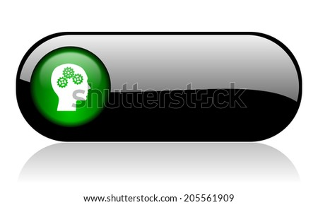 head black glossy banner - stock photo