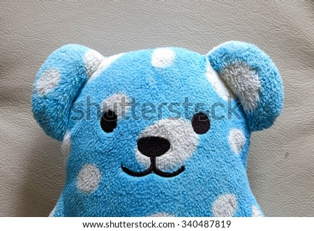 head blue bear doll for background
