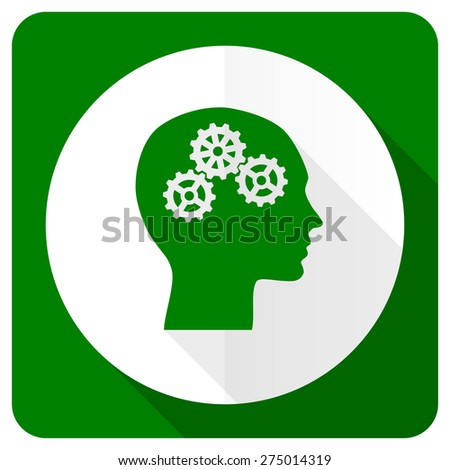 head flat icon human head sign  - stock photo