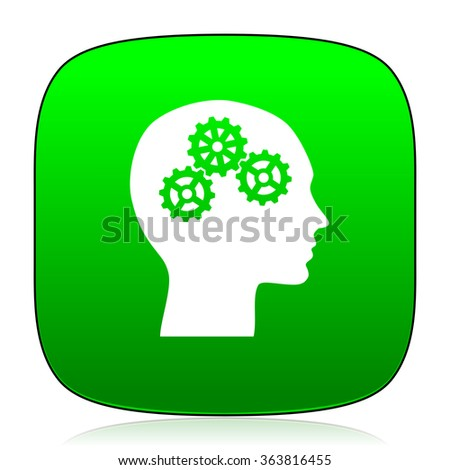 head green icon for web and mobile app