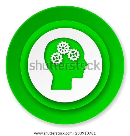 head icon, human head sign  - stock photo