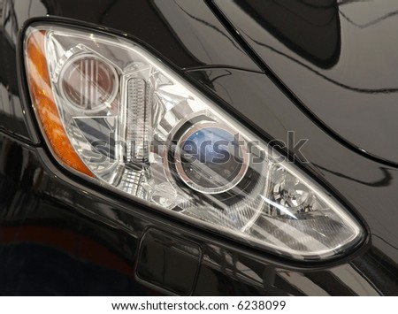 Head lights of a car - stock photo