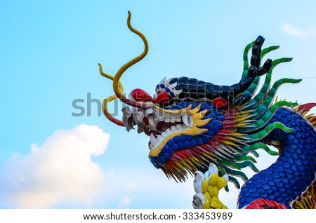 Head of a Chinese ornamental celebration dragon