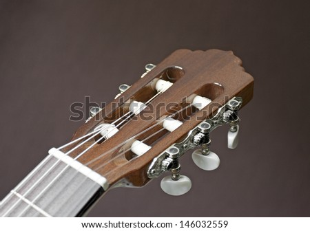 Head of a classical guitar - stock photo