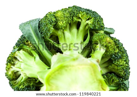 head of cabbage broccoli isolated on white background