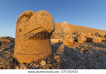 Head of Goddess of Commagene (Tyche), Nemrut, Turkey - stock photo