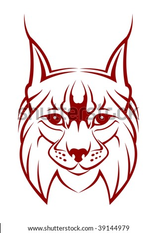 Head of lynx as a mascot. Vector version also available - stock photo