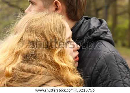 head on the shoulder - stock photo