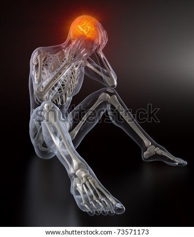 Head Pain concept