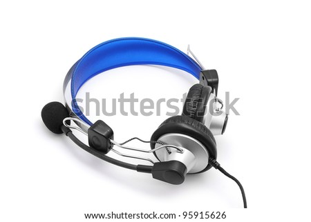 head phones on white background
