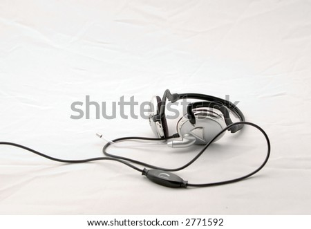 Head-set on a white background - stock photo