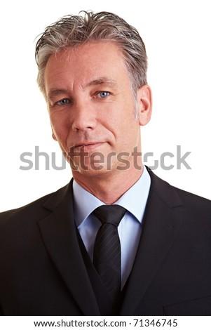 Head shot of a senior business man - stock photo