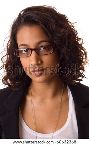 head shot of a young asian woman - stock photo