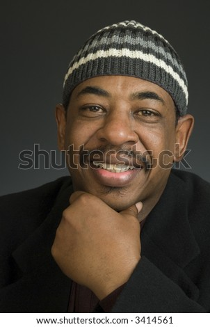 Head shot of an African American male