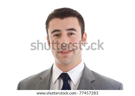 Head shot of handsome Hispanic man in a suit - stock photo
