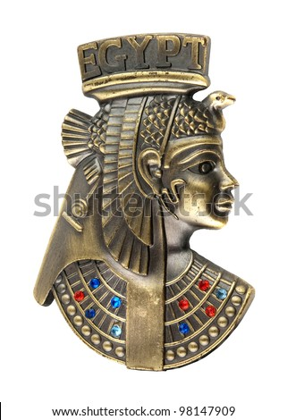 head staue of egyptian queen Cleopatra - stock photo