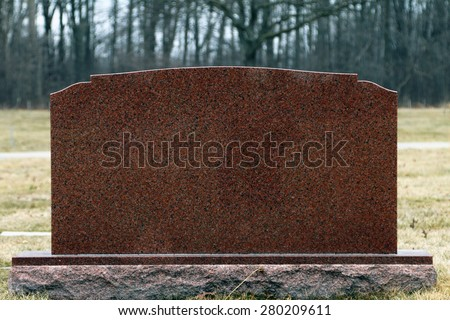 Head stone or grave stone with no identification   - stock photo