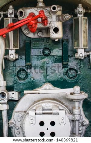 Head train engine - stock photo