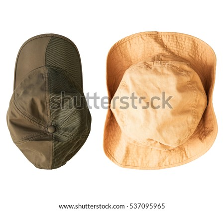 Head wear set on isolated background