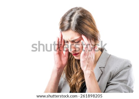 Headache. - stock photo