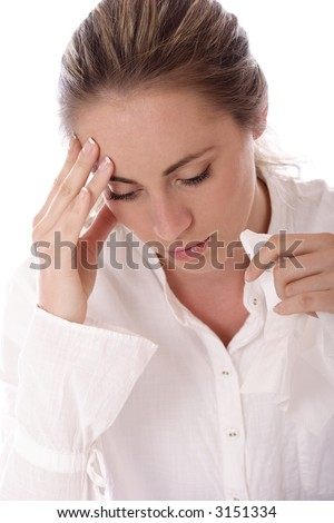 Headache - stock photo