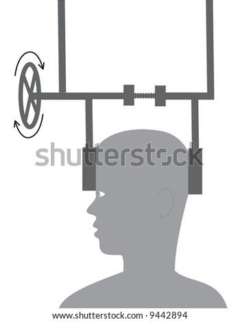 Headache, abstract illustration - stock photo
