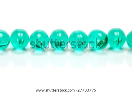 Headache Capsules isolated against a white background