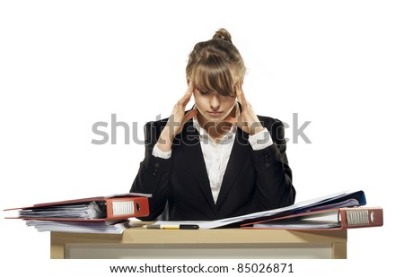 headache of work. see more on my page - stock photo