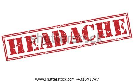 headache stamp - stock photo