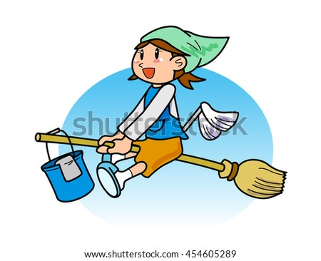 Headed to the site of cleaning - stock photo