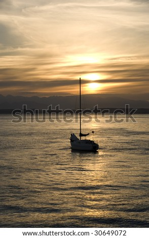 Heading into the sunset in your sailboat is peaceful luxury