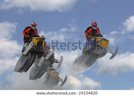 heading to higher ground - stock photo