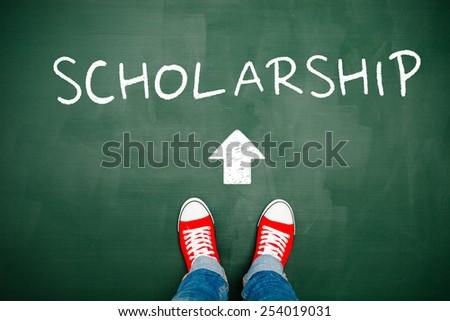 Heading towards a scholarship - stock photo
